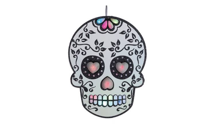 Light Up Skull Decoration