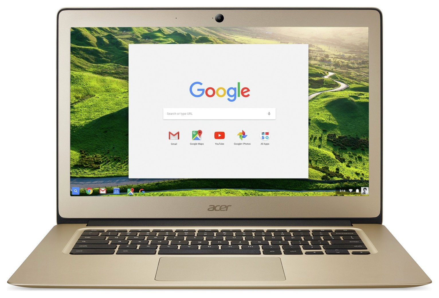 Acer 14 Inch Celeron 4GB 32GB Chromebook - Gold