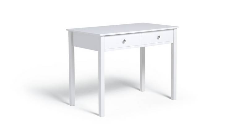 Argos Home Brooklyn 2 Drawer Desk - White