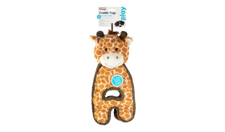 Petstages Cuddle Tugs Giraffe Dog Toy
