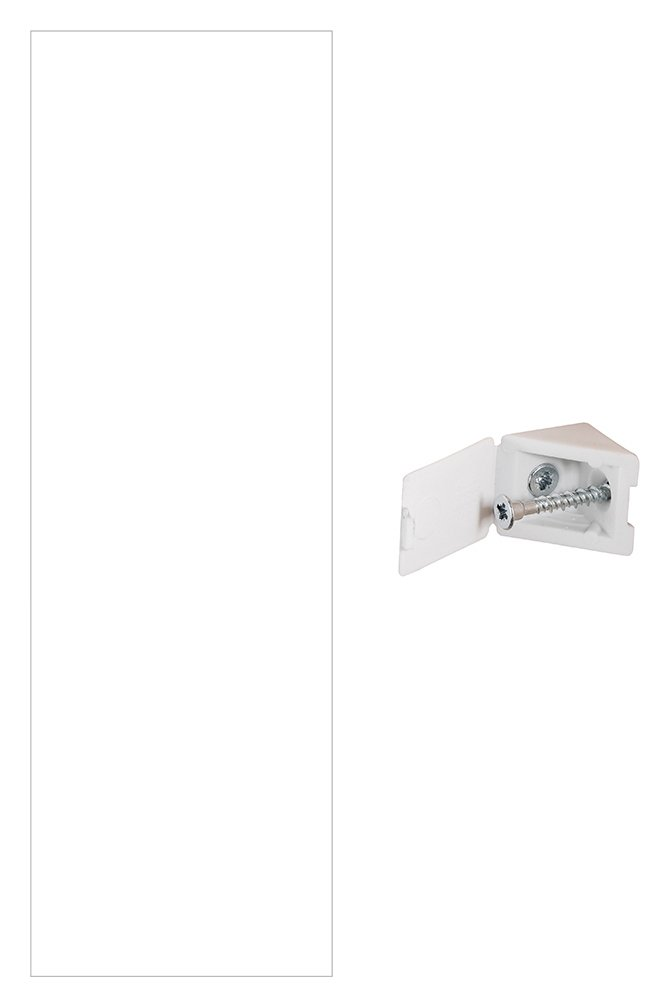 Spacepro White End Panel with Fixing Blocks at Argos