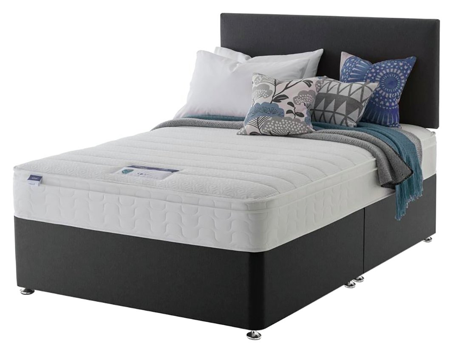 Silentnight Travis Microquilt Divan Bed - Double