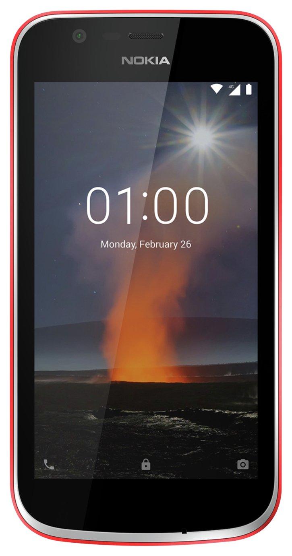 Sim Free Nokia 1 Mobile Phone - Warm Red.
