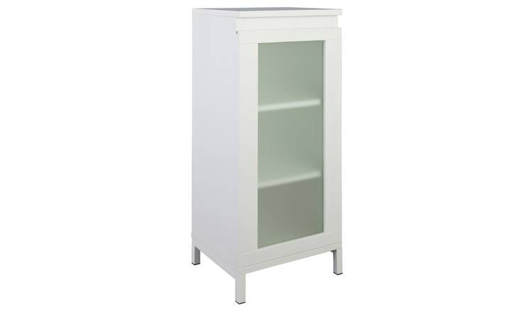 Buy Argos Home Ice 1 Door Floor Cabinet White Bathroom Shelves And Storage Units Argos