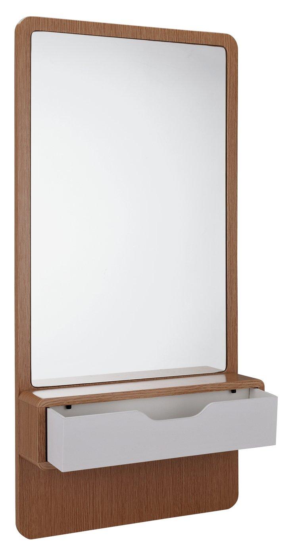 Argos Home Caleb Shelf Mirror & Drawer - Two Tone
