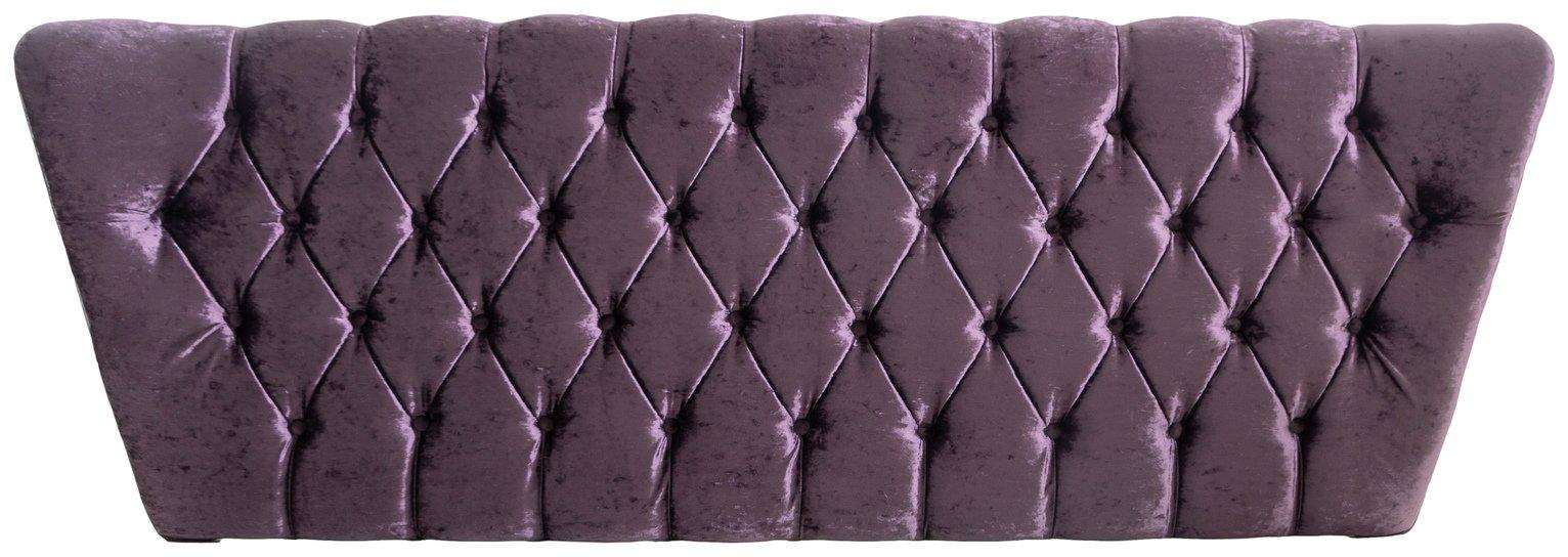 Image of Airsprung Ellaria Double Headboard - Purple