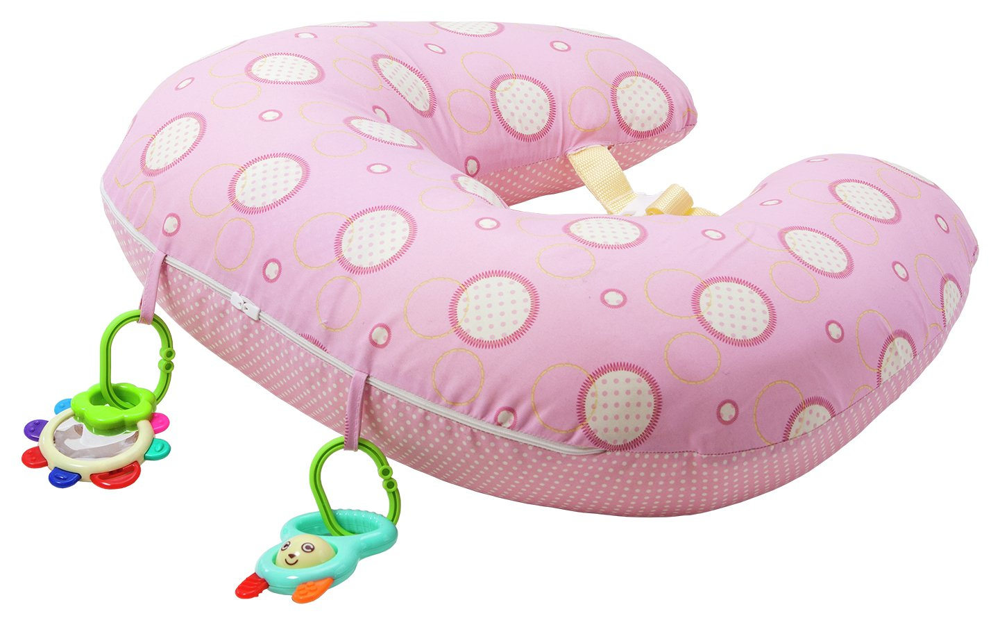 Clevamama Clevacushion 10 in 1 Nursing Pillow - Pink