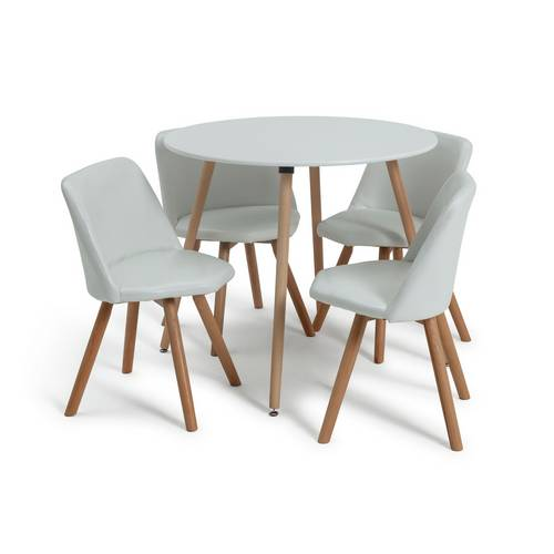 Argos Dining Table And Chairs White: Buy Argos Home Quattro White Dining Table & 4 White Chairs