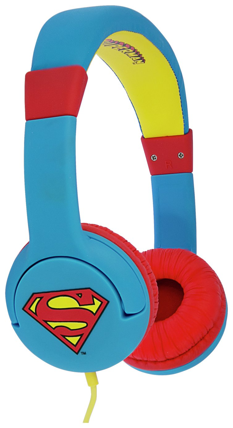 Superman On-Ear Kids Headphones - Blue