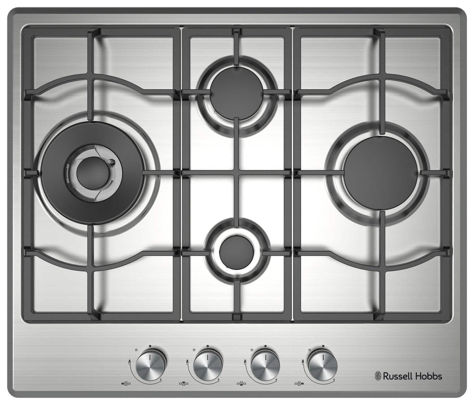 Russell Hobbs RH60GH403SS Gas Hob - Stainless Steel
