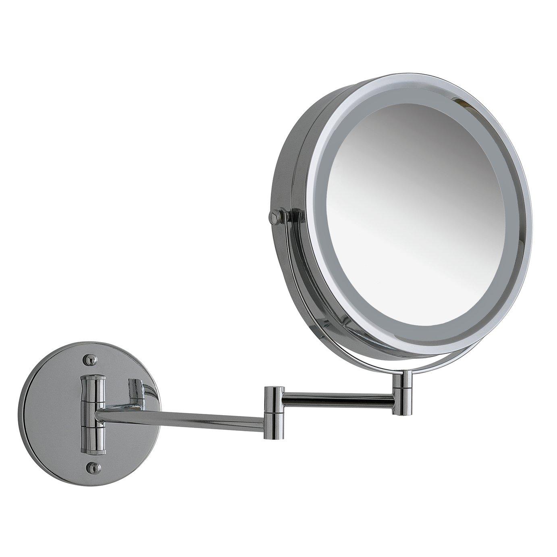 Argos Home LED Chrome Bathroom Shaver Mirror