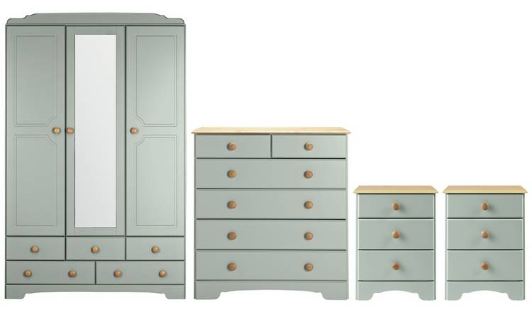 Argos Home Nordic 4 Piece 3 Door Wardrobe Set - Grey