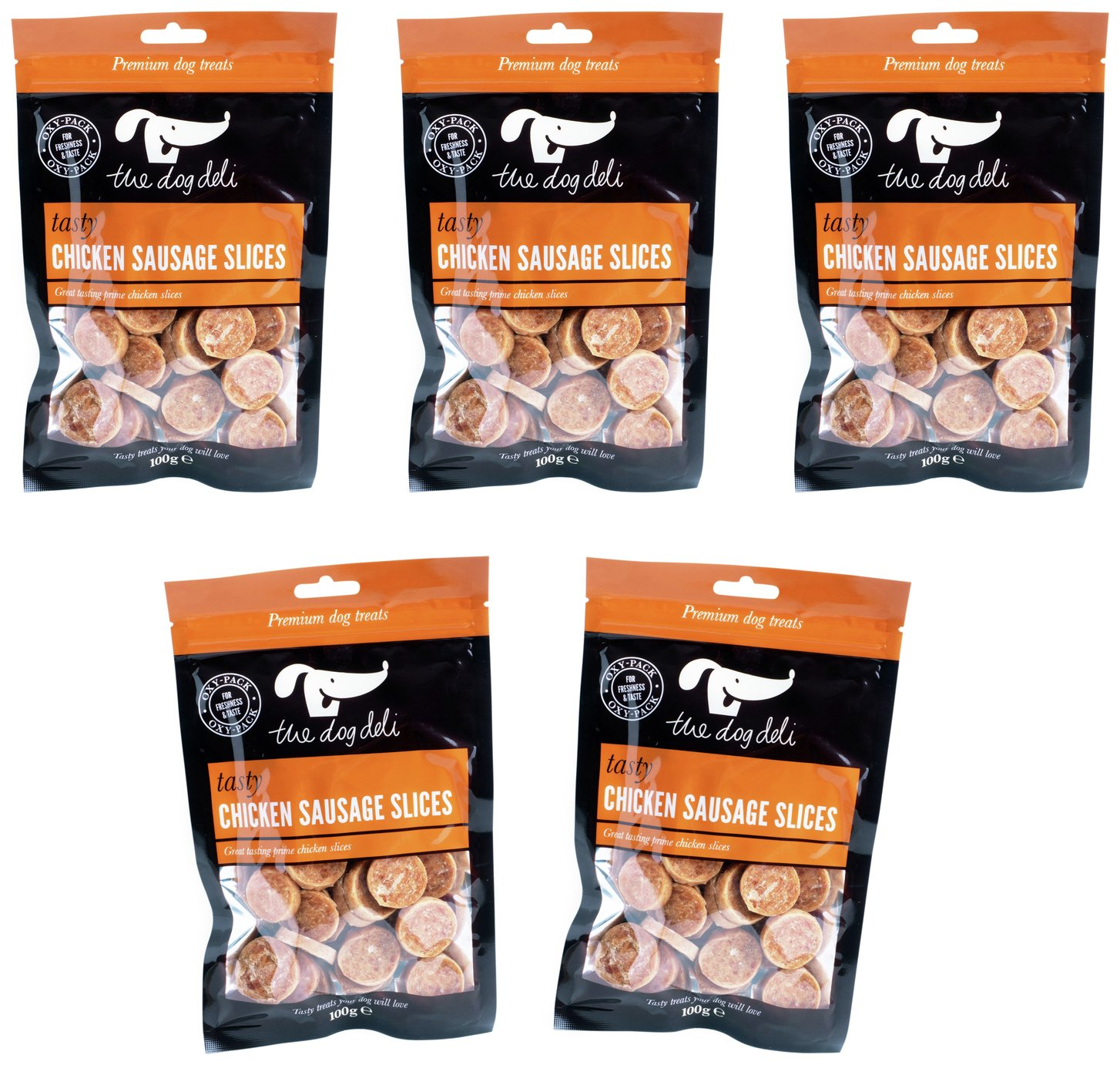 Petface 100g Pack of Chicken Sausage Slices - Pack of 5