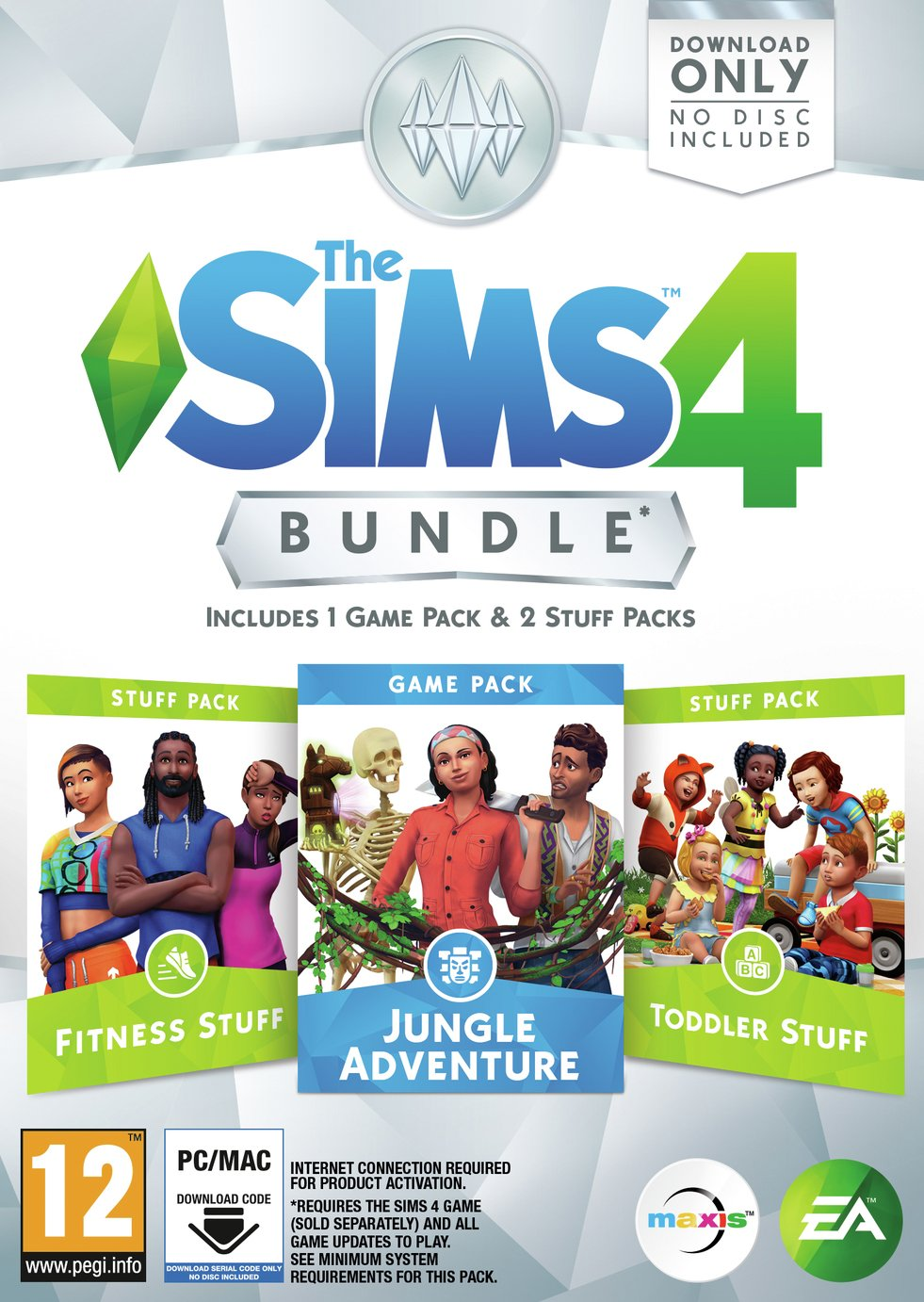 The Sims 4 Jungle Adventure Bundle Pack for PC