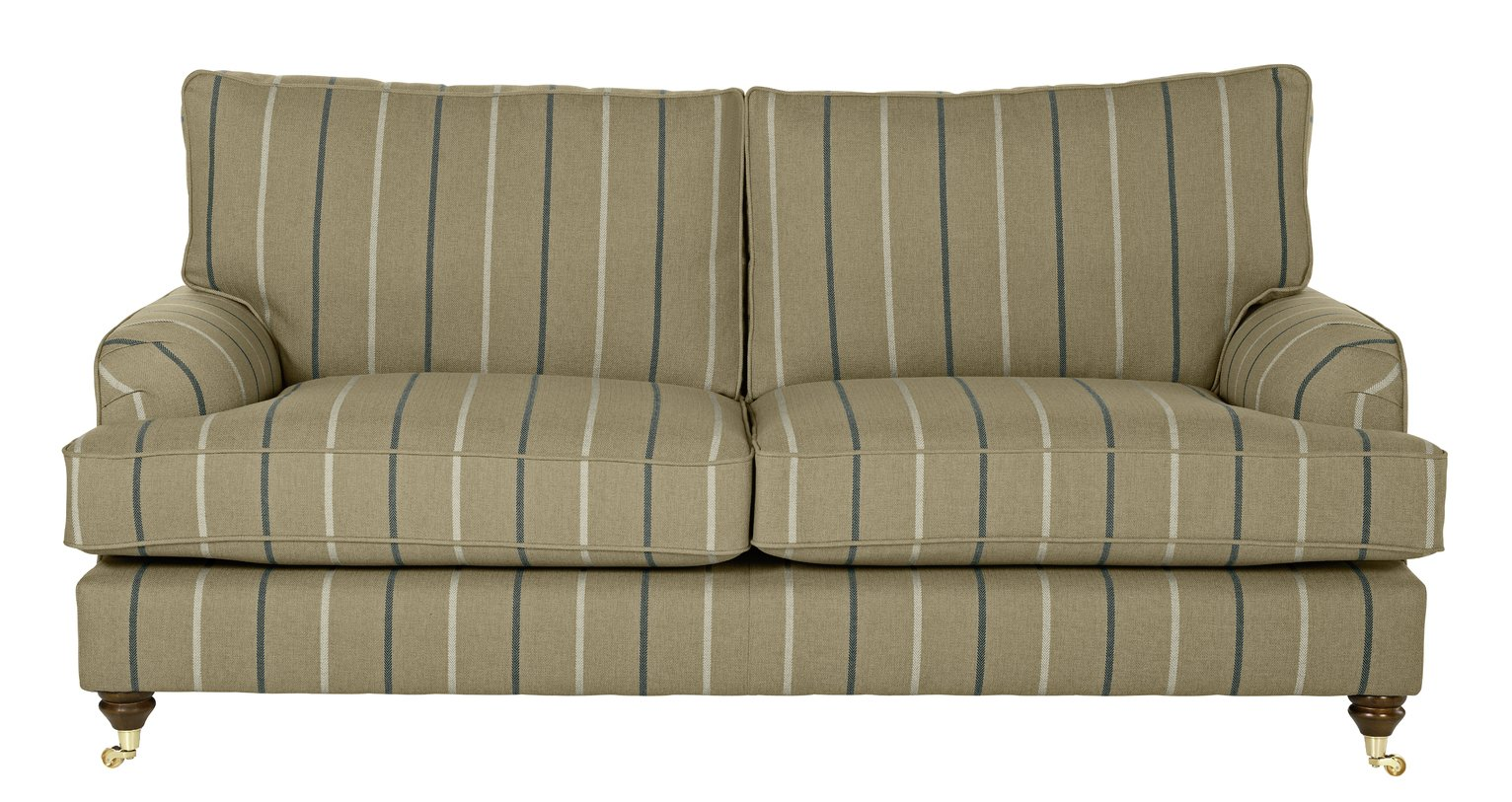 Image of Heart of House Abberton 3 Seater Sofa - Mink Stripe