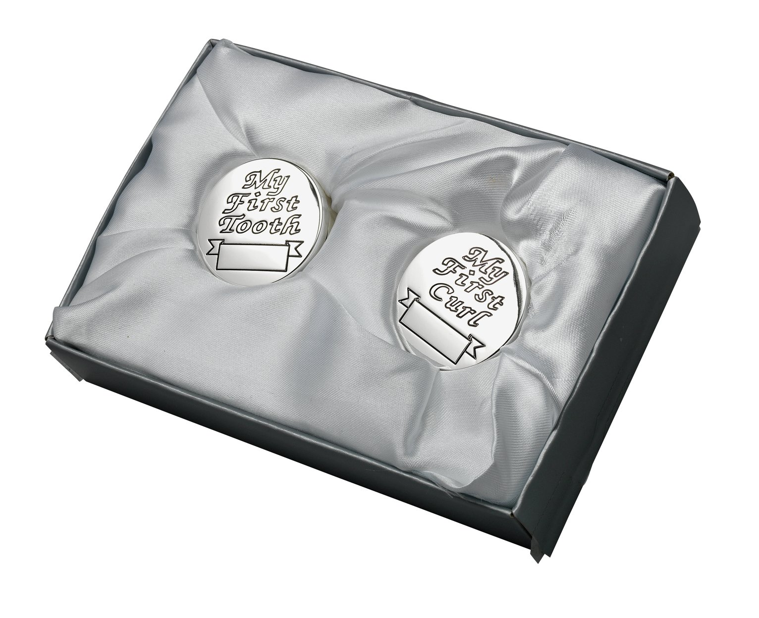 Image of Bambino Silver Plated First Tooth and Curl Boxes