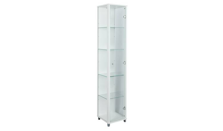 Argos Home 1 Door Glass Display Cabinet - White