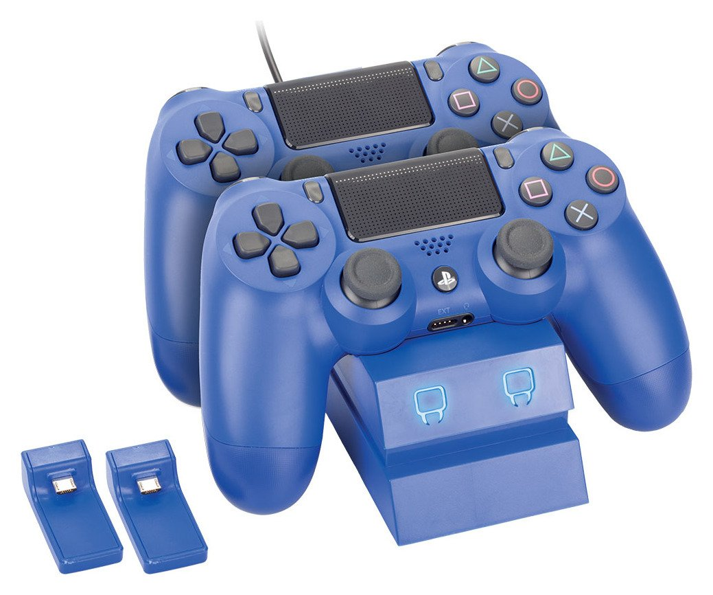 Venom Twin Docking Station for PS4 - Blue