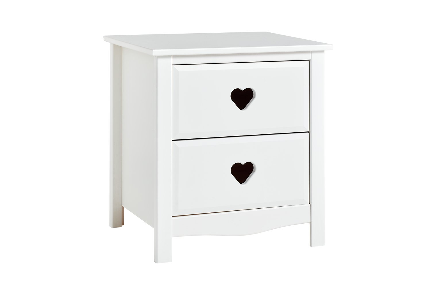 Argos Home Mia White 2 Drawer Bedside Cabinet
