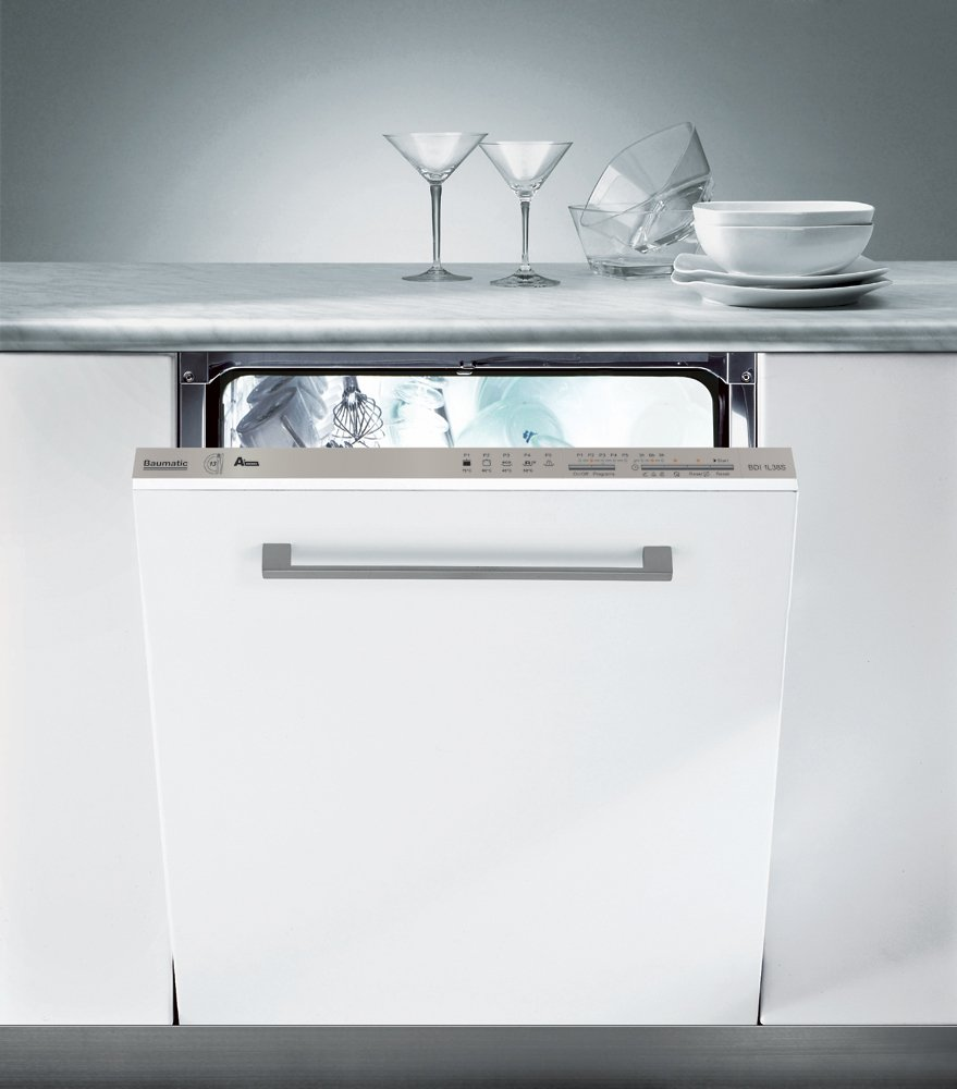 Image of Baumatic BDI1L38S Integrated Slimline Dishwasher - White