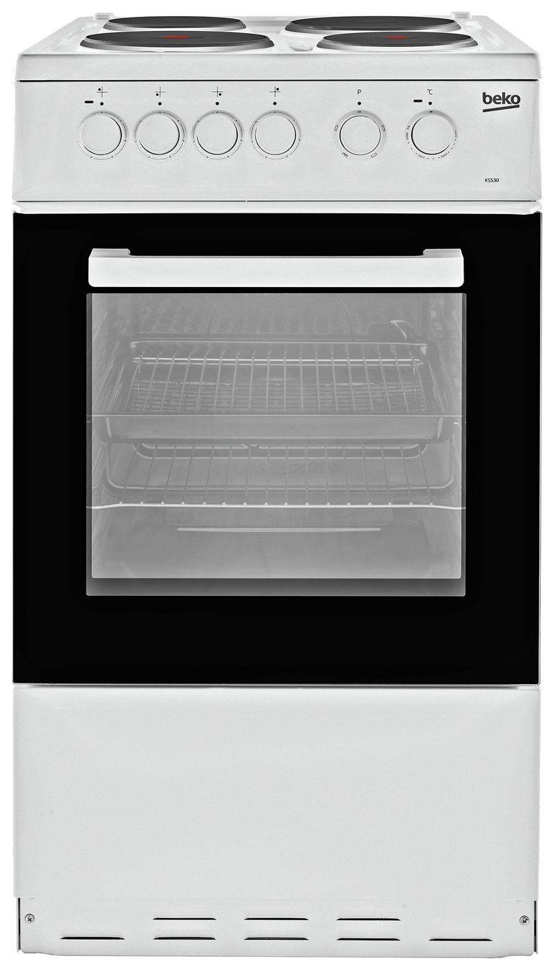 Beko KS530W 50cm Single Oven Electric Cooker - White
