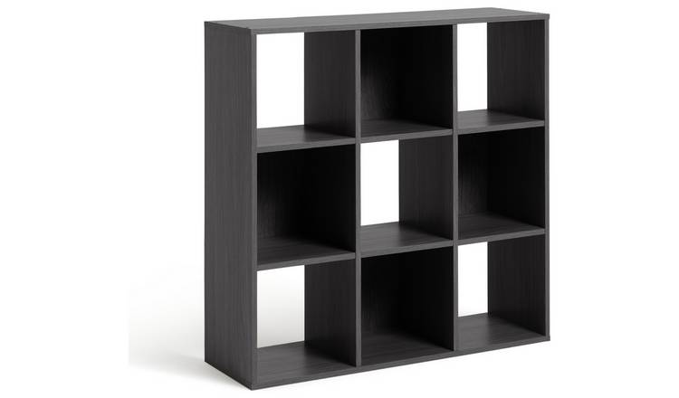 new style 096dc 3971d Buy Argos Home Squares 9 Cube Storage Unit - Black | Bookcases and shelving  units | Argos