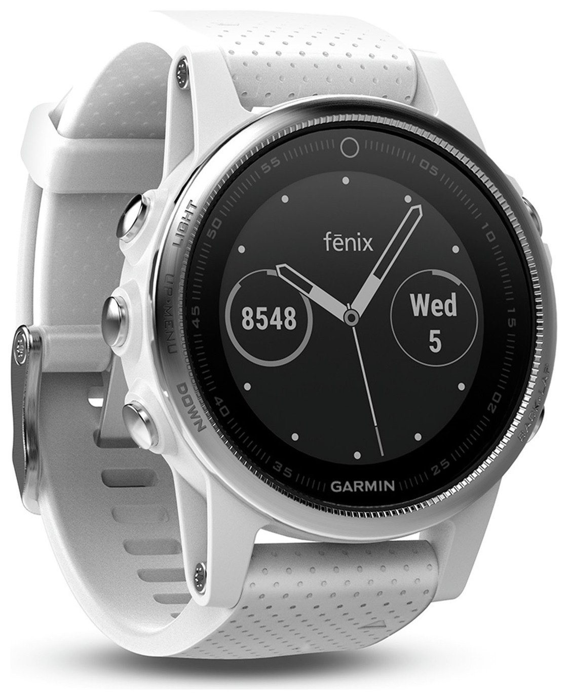 Compare retail prices of Garmin Fenix 5S Multisport GPS Smart Watch White to get the best deal online