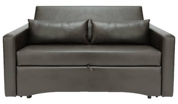 Buy Argos Home Reagan 2 Seater Faux Leather Sofa Bed -Dark Brown | Sofa  beds | Argos