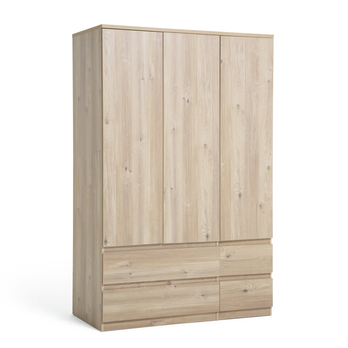 Argos Home Jenson 3 Door 4 Drawer Wardrobe - Oak Effect
