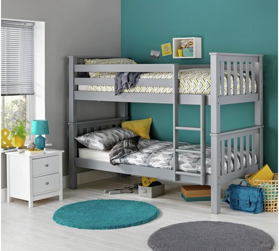 Buy Argos Home Heavy Duty Bunk Bed Frame Grey Kids Beds Argos