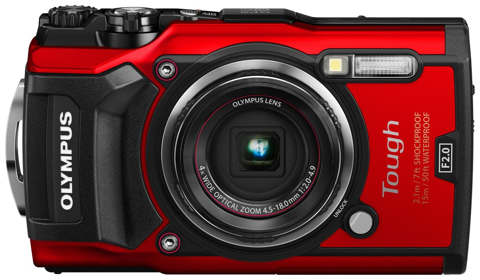 Olympus TG-5 12.1MP Waterproof Tough Camera - Red
