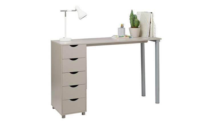 0d530ac44231 Buy Argos Home 5 Drawer Office Desk - Grey | Office desks | Argos