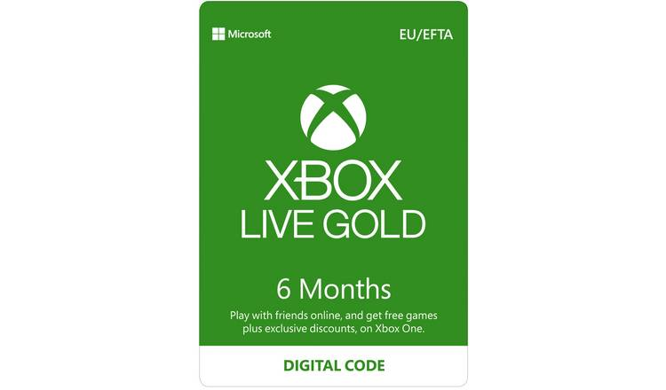 Xbox Live Gold Membership - 6 Months