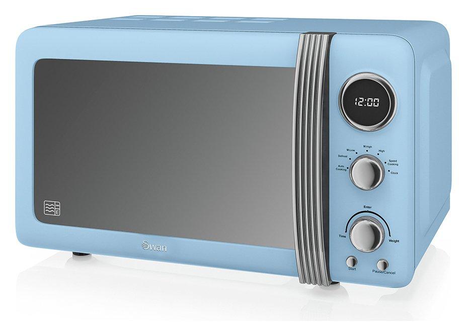 Swan 800W Standard Microwave SM22030BLN - Blue