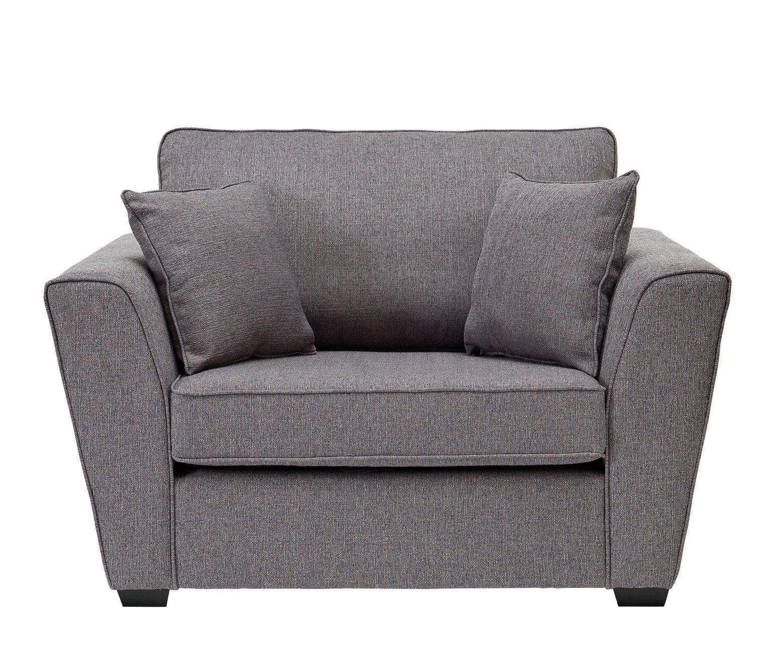 Argos Home Renley Fabric Cuddle Chair - Charcoal