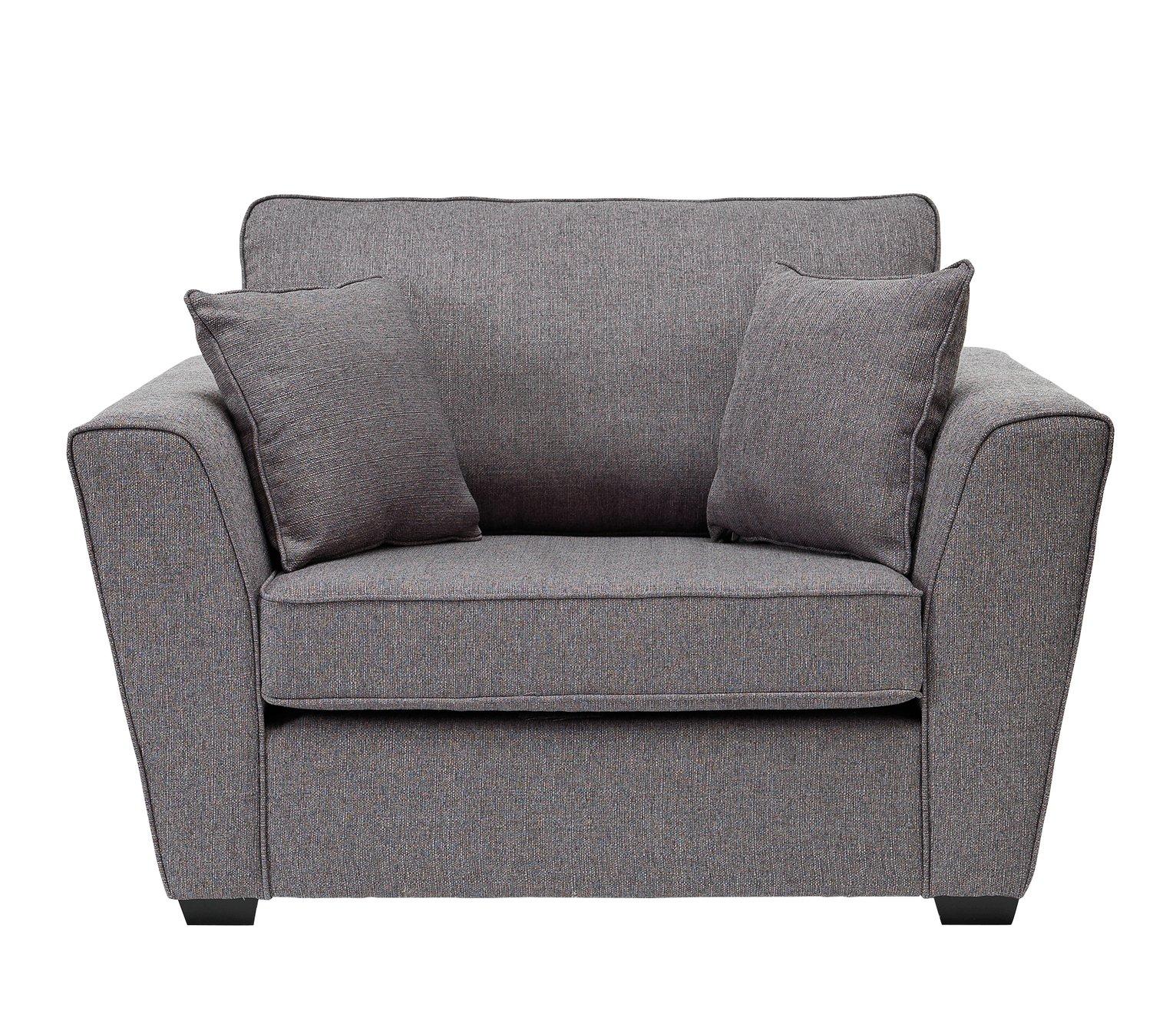 Argos Home Renley Fabric Cuddle Chair - Charcoal