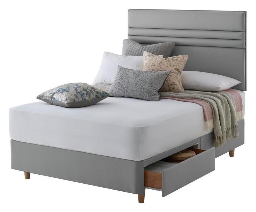 Silentnight Roma Grey Divan Bed - Kingsize