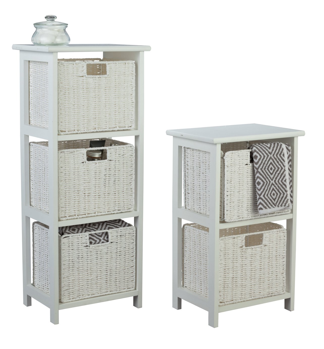 Image of Collection 2 & 3 Drawer Storage Unit - White