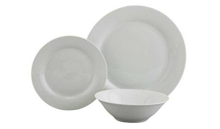 Buy Argos Home Porcelain 12 Piece Dinner Set White Limited Stock