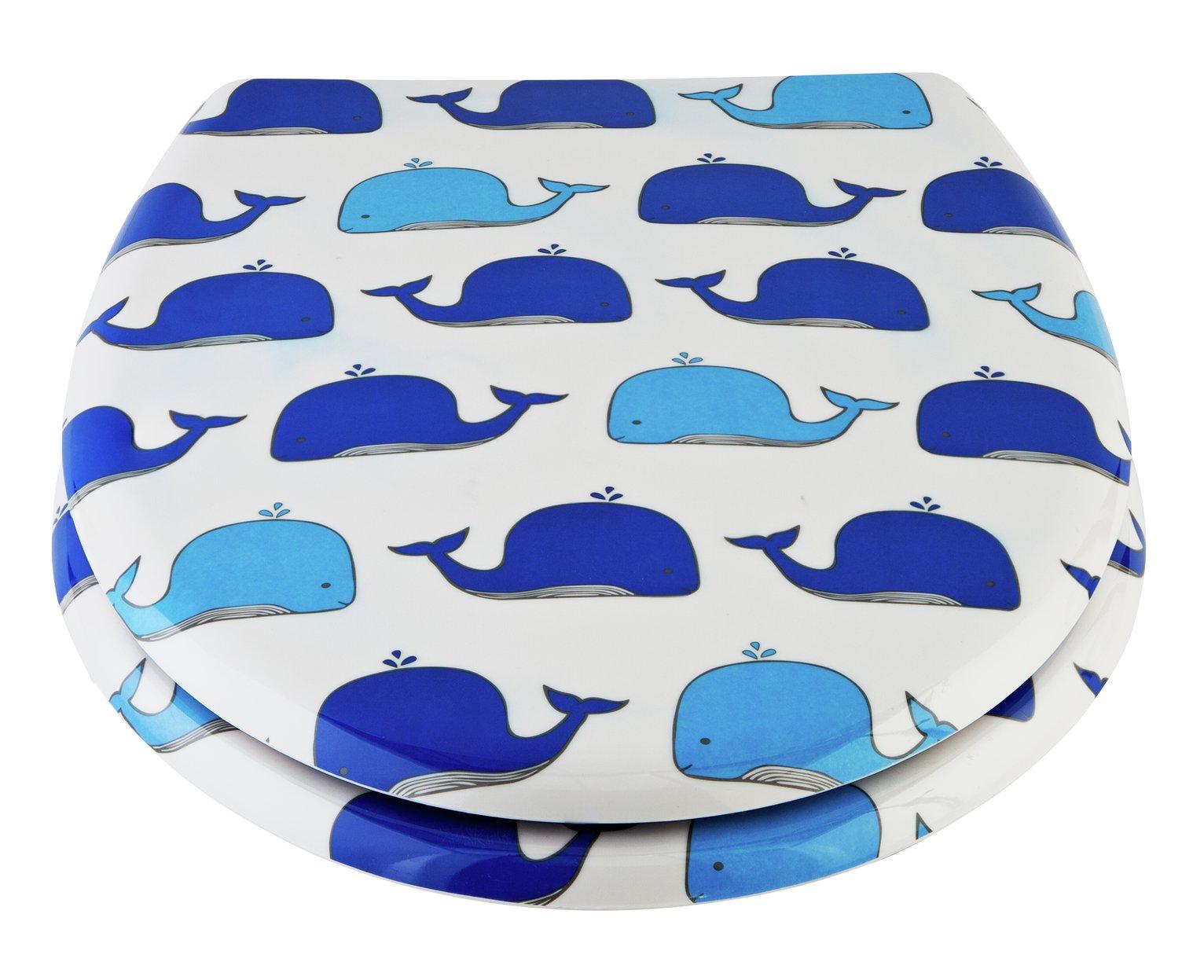Argos Home Wally the Whale Slow Close Toilet Seat - White