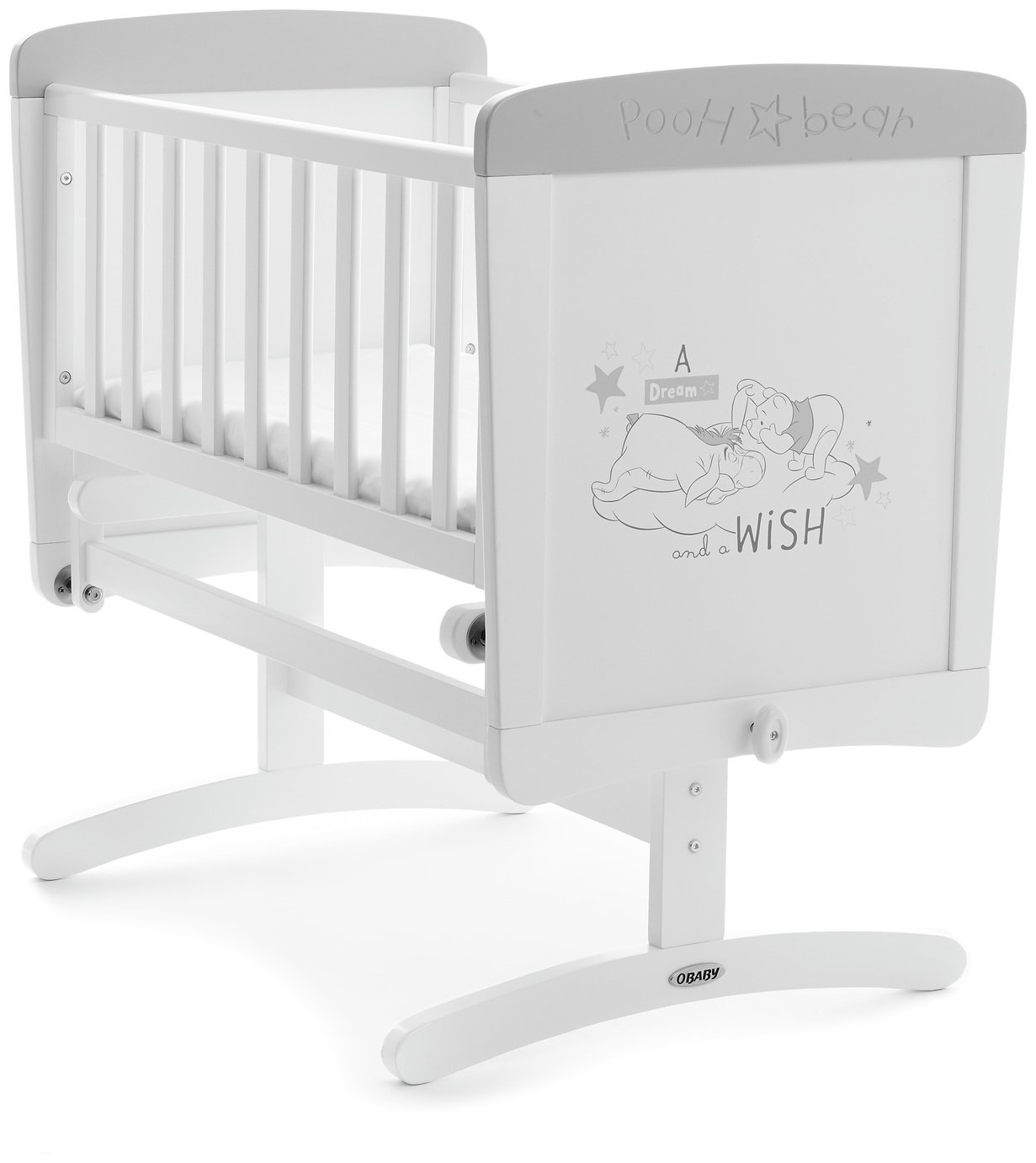 Disney Winnie the Pooh Crib & Mattress- Dreams and Wishes