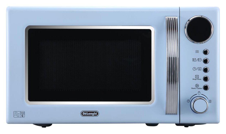 De'Longhi Vintage 700W Standard Microwave - Blue