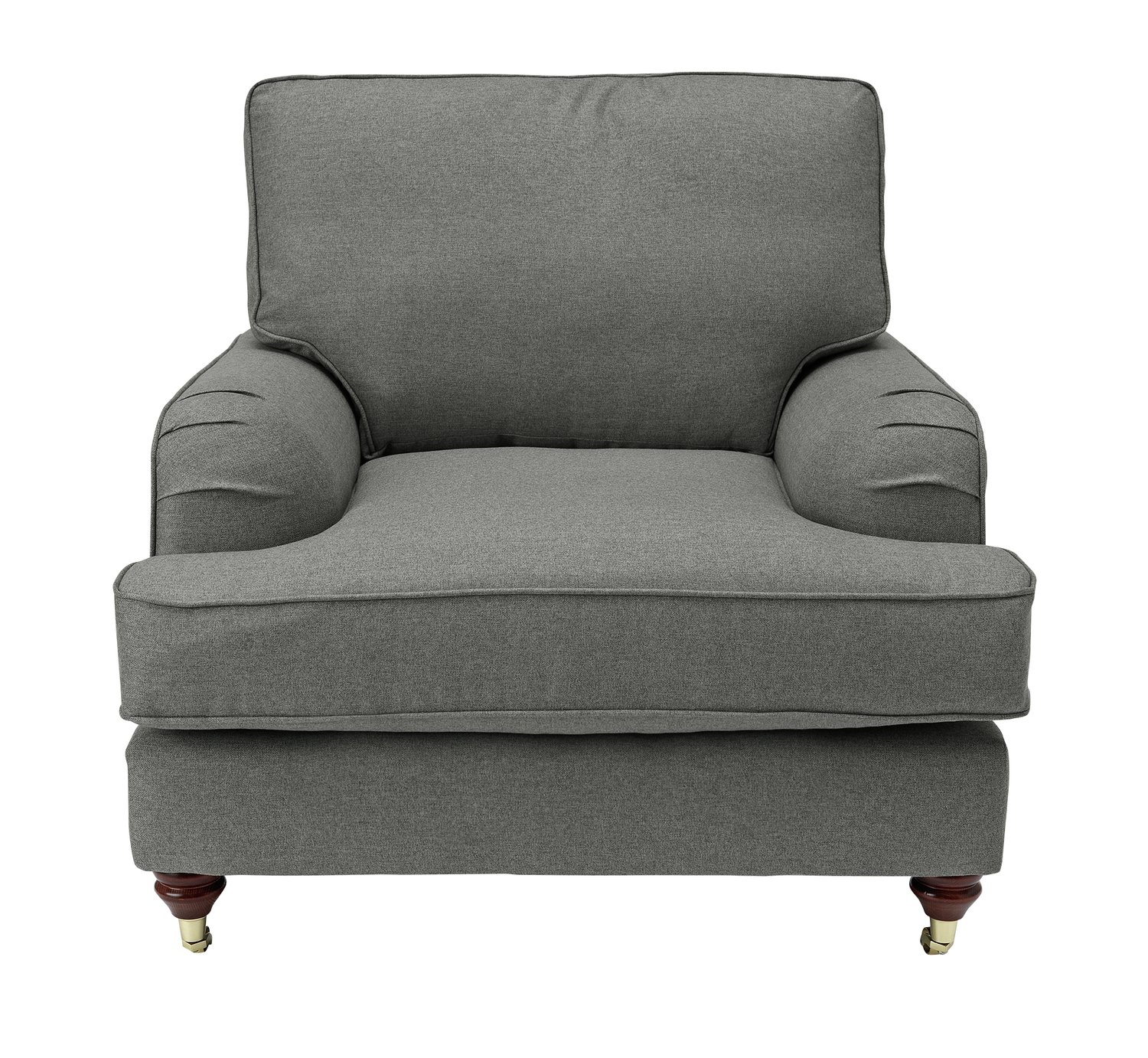 Argos Home Abberton Tweed Fabric Armchair - Light Grey