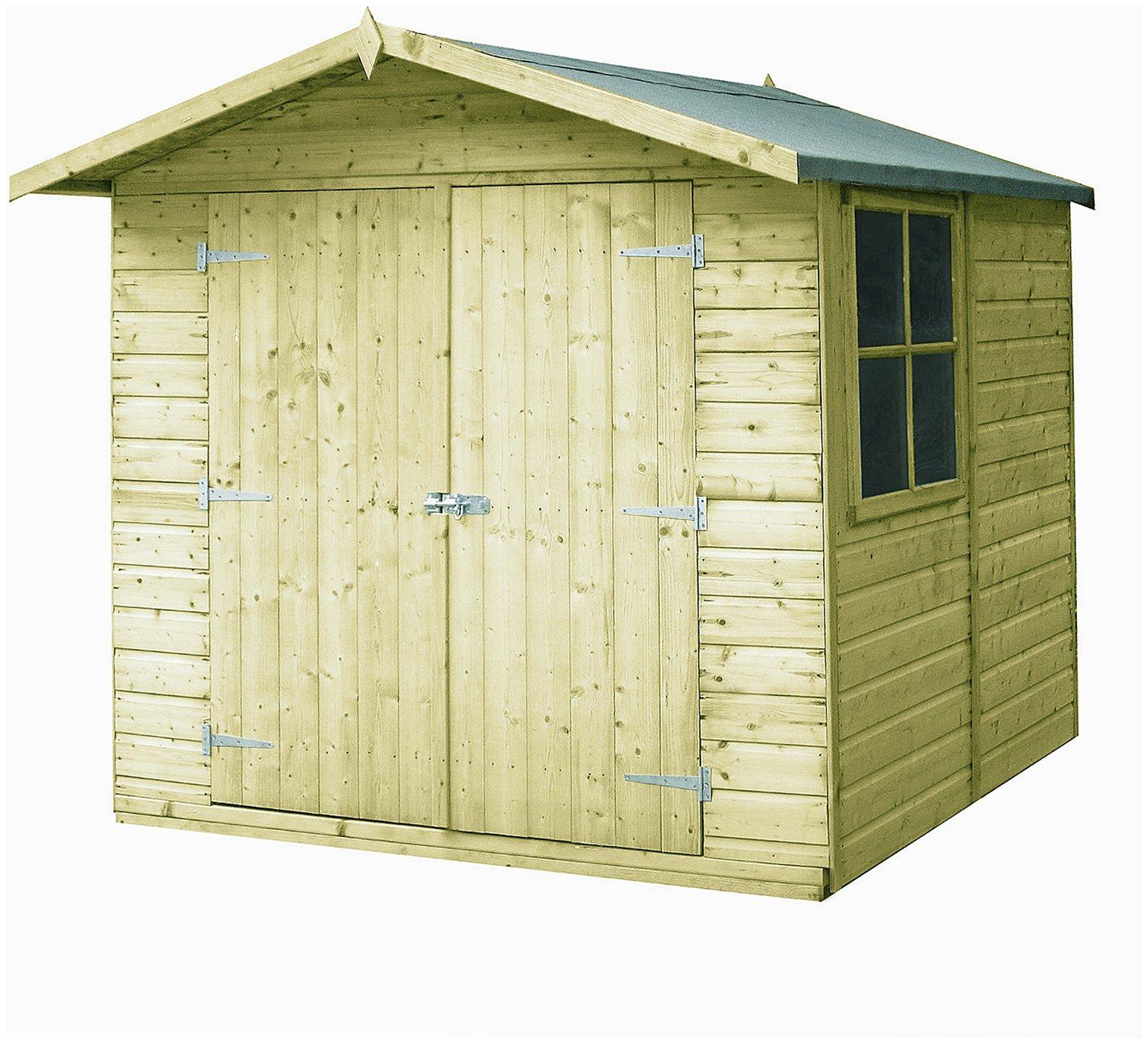Image of Homewood Pressure Treated Corner Shed 7 x 7ft