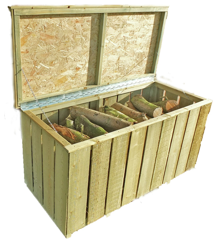Image of Homewood Pressure Treated Rough Sawn Log Box