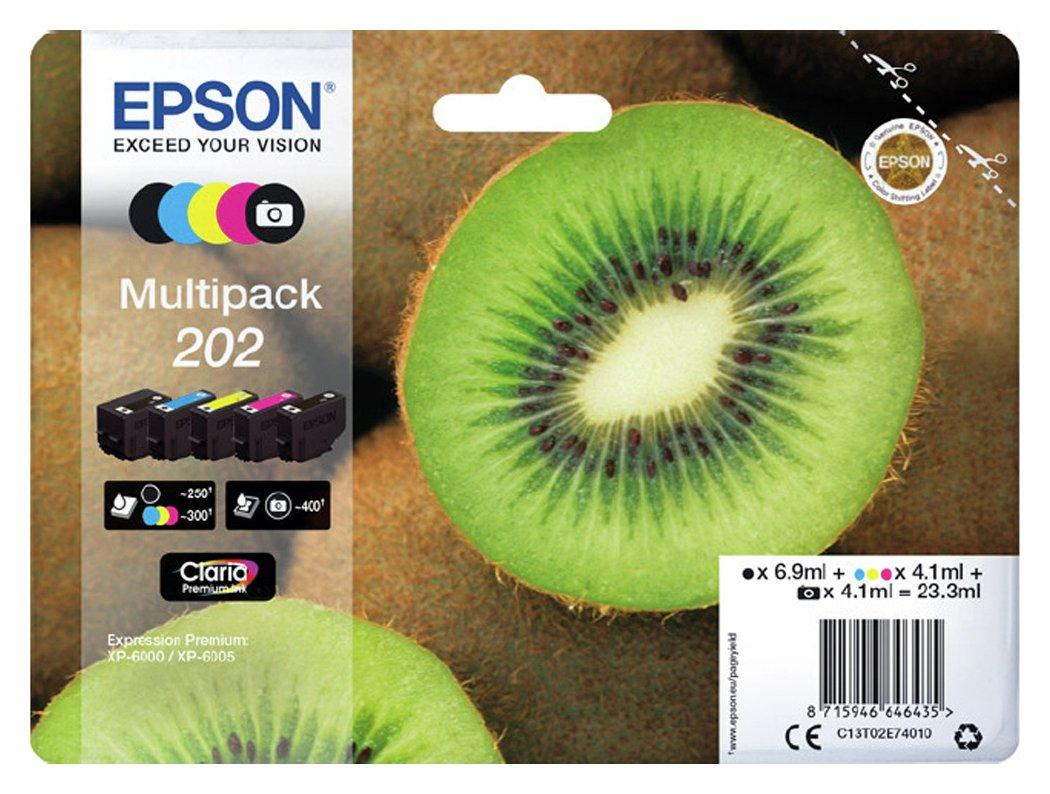 Epson 202 Kiwi Ink Cartridges - Black & Colour