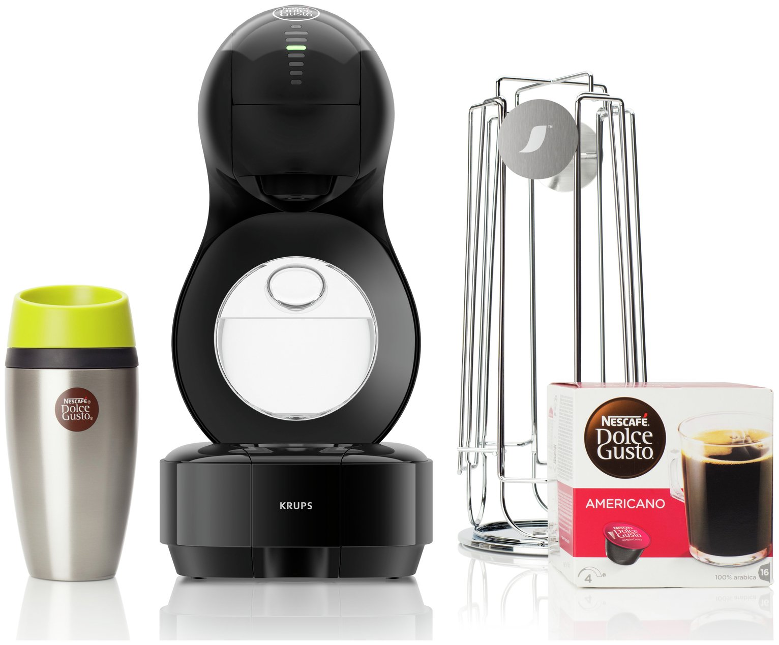 dolce gusto lumio coffee machine and pods black for only. Black Bedroom Furniture Sets. Home Design Ideas