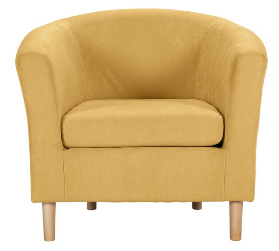 buy argos home molly fabric tub chair yellow armchairs and
