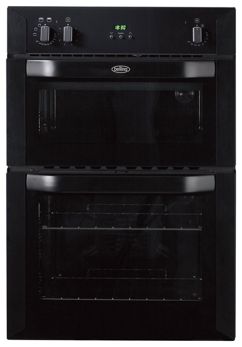 Image of Belling BI90FP Double Electric Oven - Black