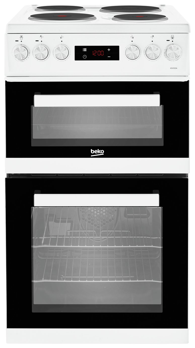 Image of Beko KDV555AW Double Electric Cooker - White